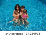 smiling happy family with kids... | Shutterstock . vector #34234915