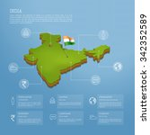 india map infographic | Shutterstock .eps vector #342352589