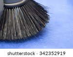 Brush Of Road Sweeper On Blue...