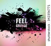 abstract retro vintage grunge... | Shutterstock .eps vector #342356771