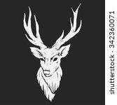 abstract deer head | Shutterstock .eps vector #342360071