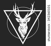abstract deer head | Shutterstock .eps vector #342360101