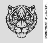 tiger head | Shutterstock .eps vector #342360134