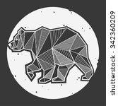 abstract bear geometric  | Shutterstock .eps vector #342360209