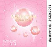 Collagen And Serum Background...