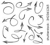 vector hand drawn arrows set  | Shutterstock .eps vector #342361265