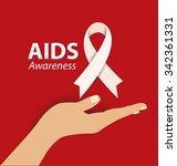 aids awareness. world aids day... | Shutterstock .eps vector #342361331