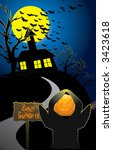 happy halloween | Shutterstock .eps vector #3423618