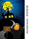 happy halloween | Shutterstock .eps vector #3423618