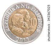 Philippine Peso Coin With The...