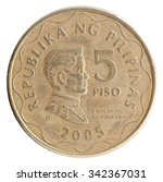 Philippine Peso 5 Coin With Th...