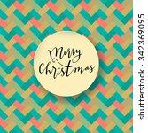 merry christmas modern...   Shutterstock .eps vector #342369095