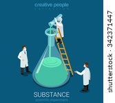 science experiment new... | Shutterstock .eps vector #342371447