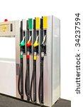 close up shot of gas pump...   Shutterstock . vector #34237594