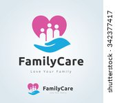 family care logo  | Shutterstock .eps vector #342377417