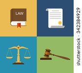 set icons law and justice. ... | Shutterstock .eps vector #342384929