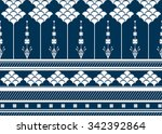 geometric ethnic pattern... | Shutterstock .eps vector #342392864