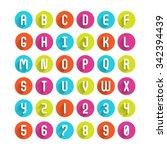 Flat Icons Alphabet A  B  C  D...