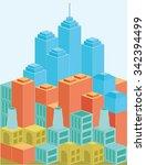 architecture modern business... | Shutterstock .eps vector #342394499