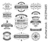 christmas labels elements... | Shutterstock .eps vector #342394685
