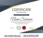 vector certificate template. | Shutterstock .eps vector #342400109