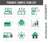 vector finance simple icon set | Shutterstock .eps vector #342400859