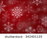 red snowflakes background   Shutterstock .eps vector #342401135