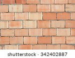 Red And Yellow Brick Wall...
