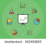 statistics and data analysis... | Shutterstock .eps vector #342403835