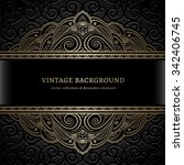 vintage gold vector background  ... | Shutterstock .eps vector #342406745