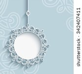 elegant lace pendant on... | Shutterstock .eps vector #342407411