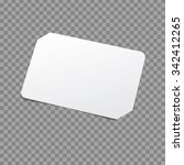 white card template. vector... | Shutterstock .eps vector #342412265