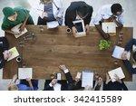 doctor meeting teamwork... | Shutterstock . vector #342415589