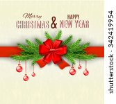 happy new year and merry... | Shutterstock .eps vector #342419954