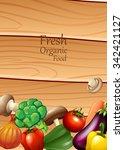 poster design with fresh... | Shutterstock .eps vector #342421127