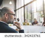 business people meeting... | Shutterstock . vector #342423761