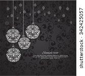 vector elegant christmas... | Shutterstock .eps vector #342425057