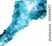 blue polygonal mosaic... | Shutterstock .eps vector #342425657