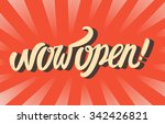now open sign. | Shutterstock .eps vector #342426821
