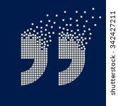 vector quotation mark flying... | Shutterstock .eps vector #342427211