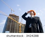 foreman looking to construction ... | Shutterstock . vector #3424288