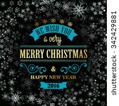 typographic retro christmas... | Shutterstock .eps vector #342429881