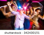 young company celebrates the... | Shutterstock . vector #342430151