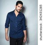 handsome young man posing in... | Shutterstock . vector #342431285