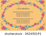 template with floral elements... | Shutterstock .eps vector #342450191