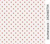 seamless christmas pattern with ... | Shutterstock .eps vector #342460754