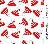 seamless pattern with red and... | Shutterstock .eps vector #342463415