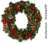wreath. | Shutterstock . vector #342466499