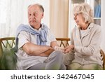 man doesn't want to take pills... | Shutterstock . vector #342467045