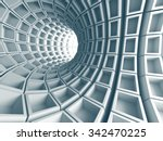 abstract architecture tunnel... | Shutterstock . vector #342470225